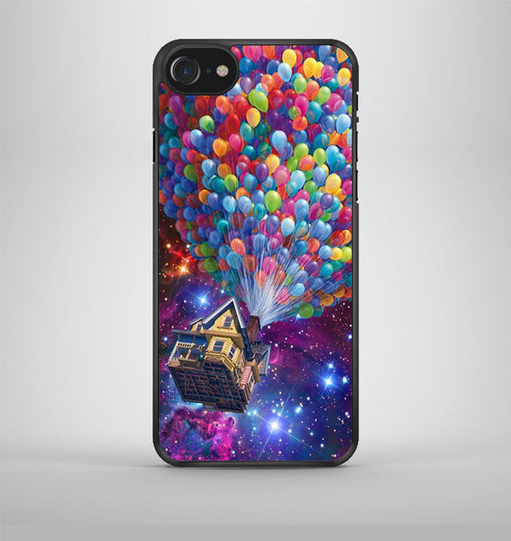 Balloons Flying House in Galaxy Nebula iPhone 7 Case Avallen