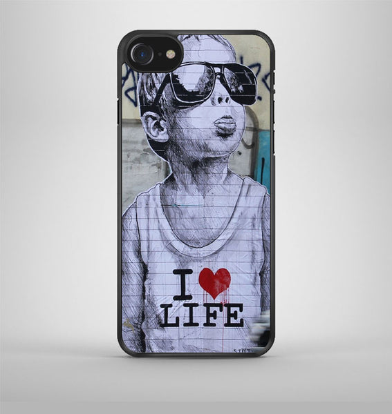 Banky I Love my life iPhone 7 Case Avallen
