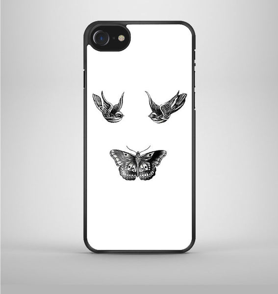 Birds And Butterfly Tattoos iPhone 7 Case Avallen