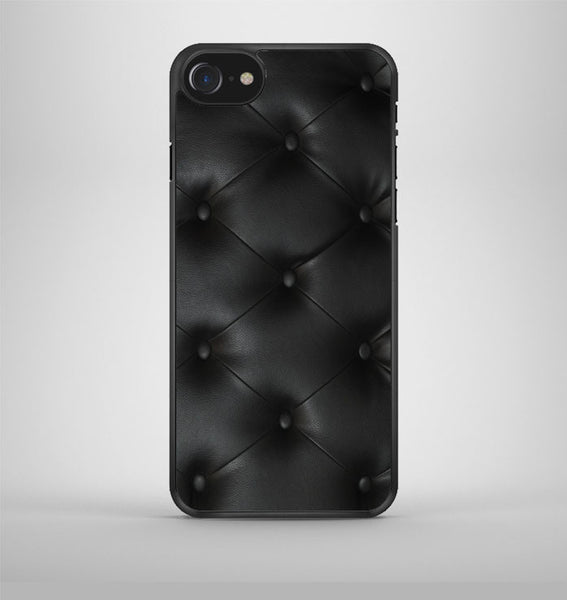 Black Leather Buttoned pattern printed iPhone 7 Case Avallen