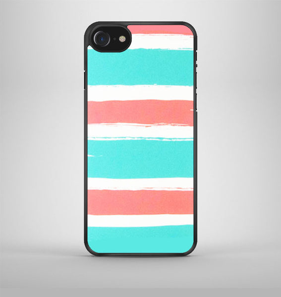 Blue Coral Colorblock Stripe iPhone 7 Case Avallen