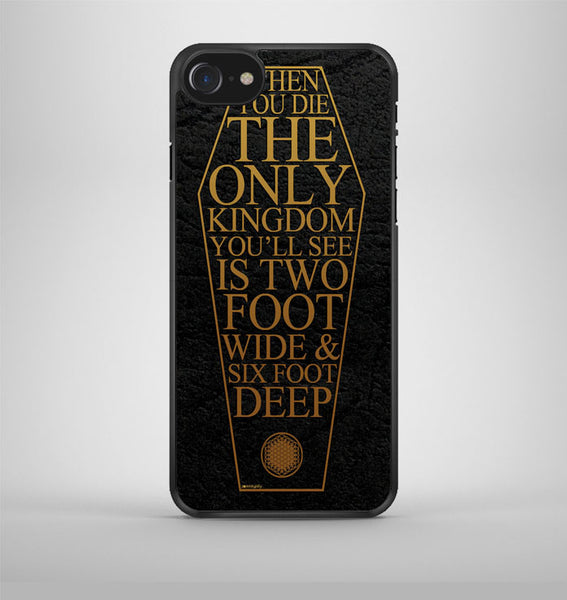 Bring Me The Horizon Coffin The House of Wolves Quote iPhone 7 Case Avallen