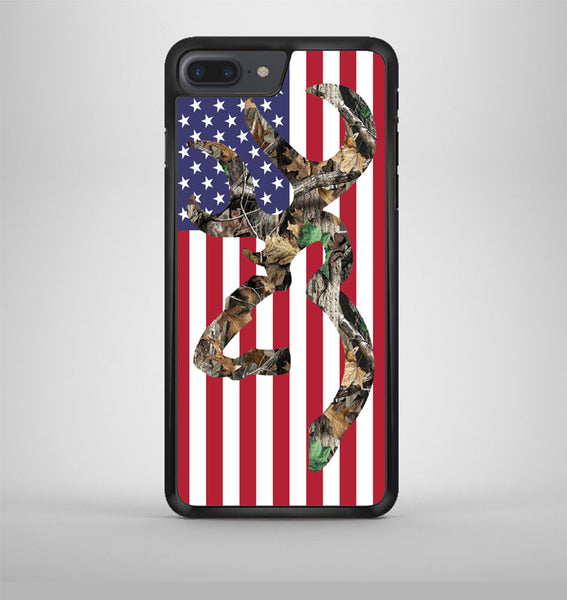 Browning Deer Camo American Flag iPhone 7 Plus Case Avallen