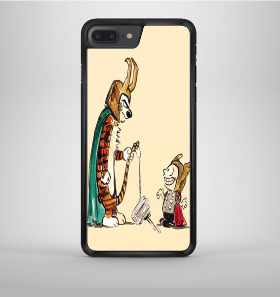 Calvin Thor and Hobbes Loki iPhone 7 Plus Case Avallen