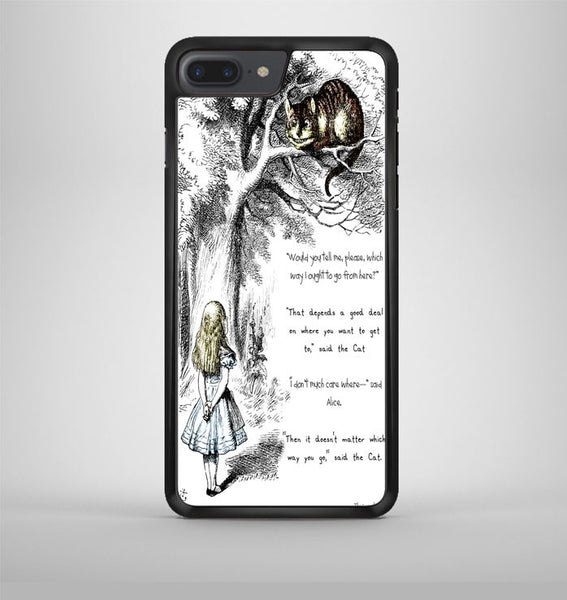Cat Cheshire Quote iPhone 7 Plus Case Avallen