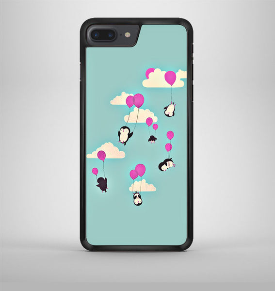 Cute Penguines And Baloons iPhone 7 Plus Case Avallen