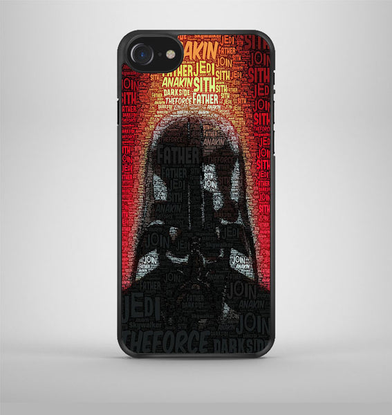 Darth Vader Typography Poster iPhone 7 Case Avallen