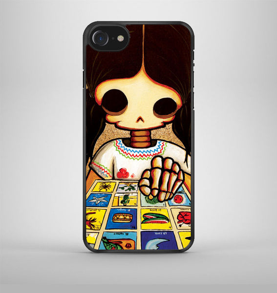 Day Of The Dead Skeleton Girl iPhone 7 Case Avallen