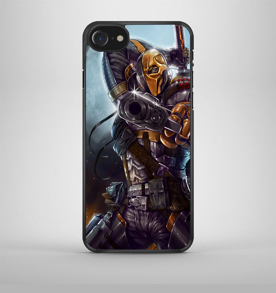 Deathstroke Mask Paint iPhone 7 Case Avallen