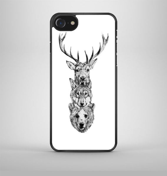 Deer, Wolf and Bear iPhone 7 Case Avallen