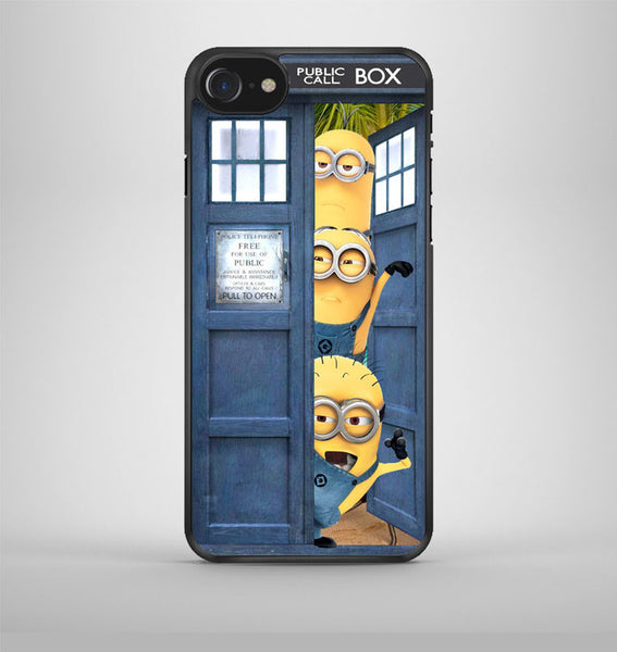 Despicable Me Minion Spiderman Dr Who Tardis iPhone 7 Case Avallen