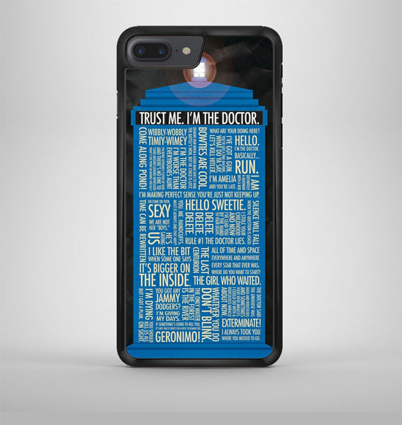 Doctor Who Quotes iPhone 7 Plus Case Avallen