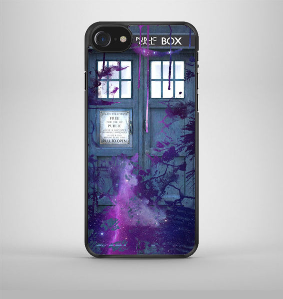 Dr Who Tardis Police Box Galaxy Nebula iPhone 7 Case Avallen