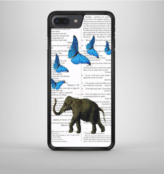 Elephant And Butterflies iPhone 7 Plus Case Avallen