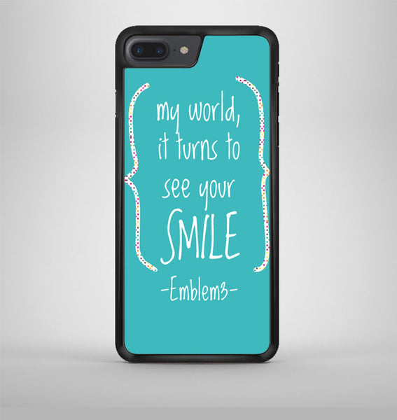 Emblem3 Lyric Cover iPhone 7 Plus Case Avallen