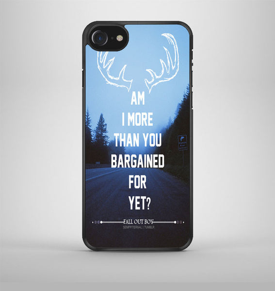 Fall Out Boy Sugar We're Going Down Lyrics iPhone 7 Case Avallen