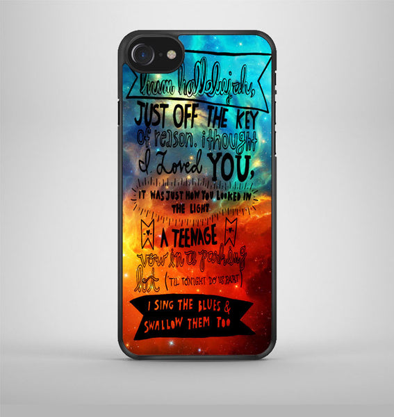 Fall out boy lyrics Hum hallelujah iPhone 7 Case Avallen
