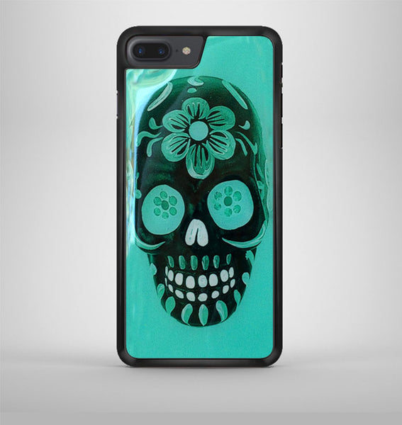 Floral Sugar Skull Turqoise iPhone 7 Plus Case Avallen