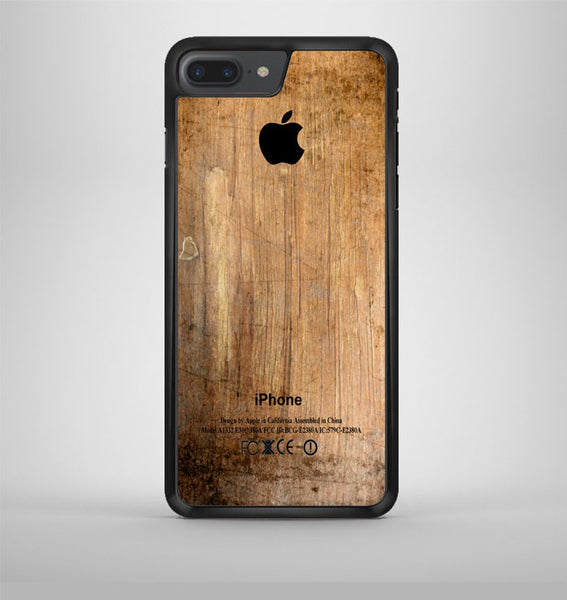 Grunge Wood Print iPhone 7 Plus Case Avallen