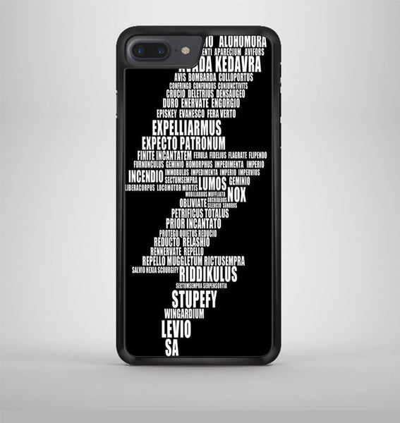 Harry Potter Spell Black Cover iPhone 7 Plus Case Avallen
