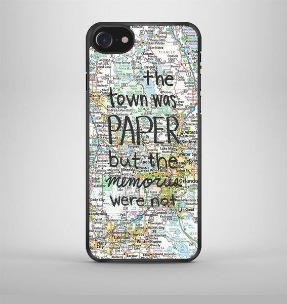 John Green Paper Towns Quotes Cover iPhone 7 Case Avallen