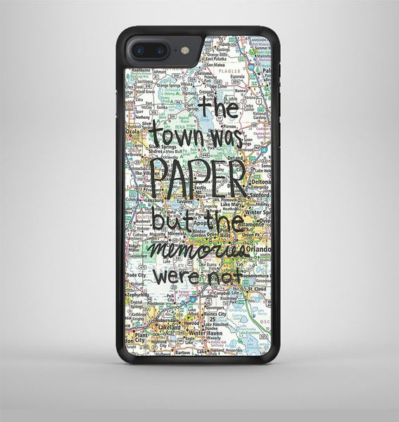 John Green Paper Towns Quotes Cover iPhone 7 Plus Case Avallen