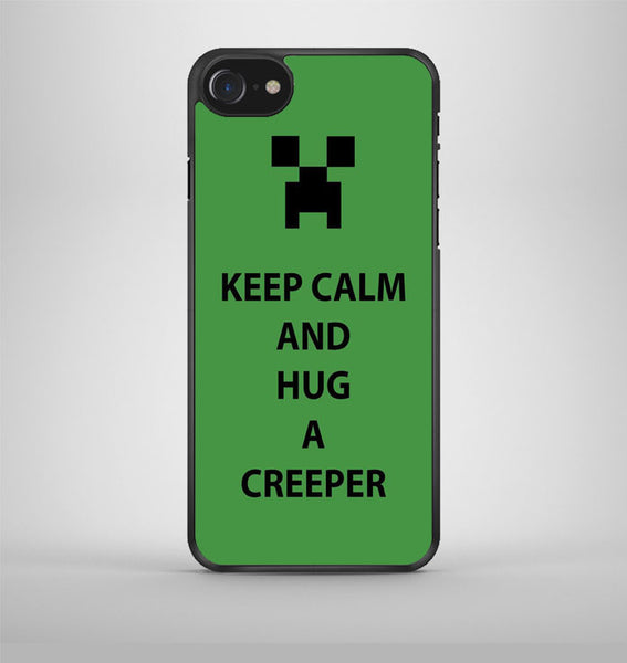 Keep Calm and hug a creeper iPhone 7 Case Avallen