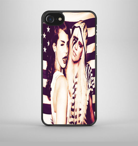 Lana Del Rey And Lady Gaga American Flag iPhone 7 Case Avallen