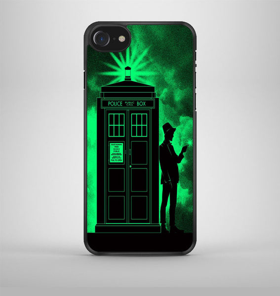 Light Green Clouds Doctor Who Tardis iPhone 7 Case Avallen