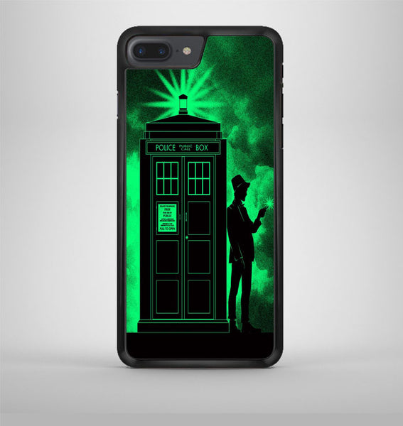 Light Green Clouds Doctor Who Tardis iPhone 7 Plus Case Avallen