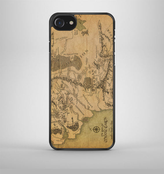 Lord Of The Rings Map iPhone 7 Case Avallen