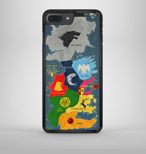 Map Game Of Thrones 1 iPhone 7 Plus Case Avallen