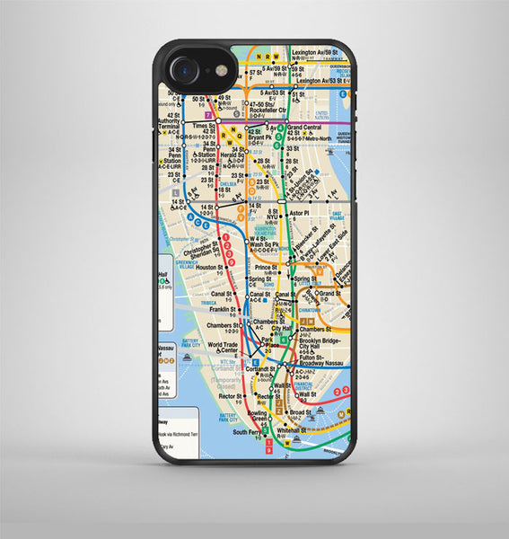 NYC subway map iPhone 7 Case Avallen