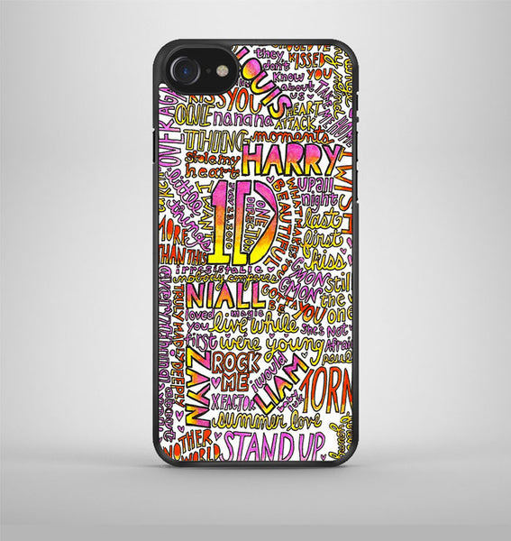 One Direction Love Rainbow Collage iPhone 7 Case Avallen