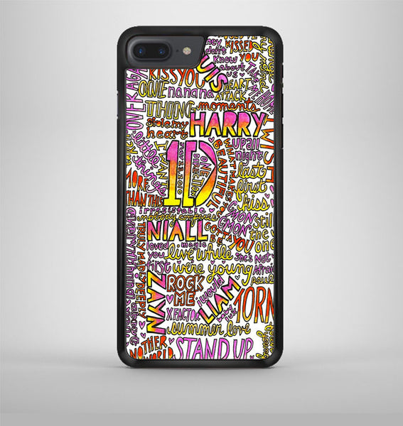 One Direction Love Rainbow Collage iPhone 7 Plus Case Avallen