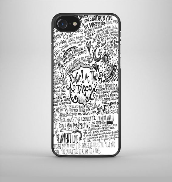 Panic At The Disco Lyric 3 Cover iPhone 7 Case Avallen