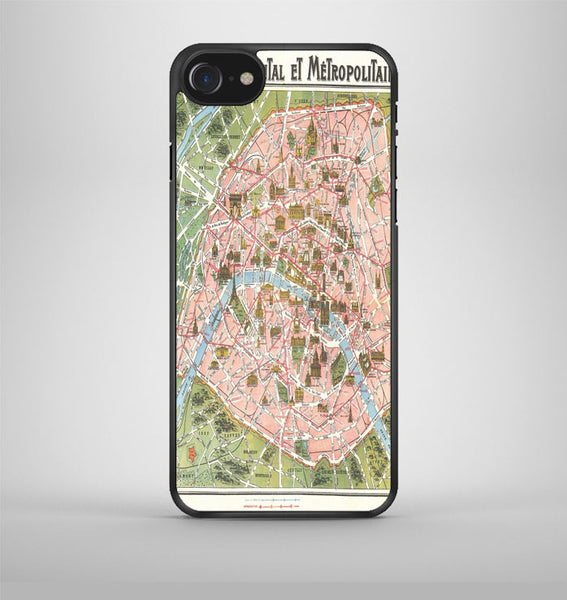 Paris Map iPhone 7 Case Avallen