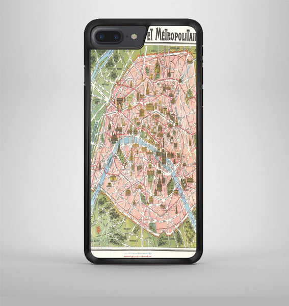 Paris Map iPhone 7 Plus Case Avallen