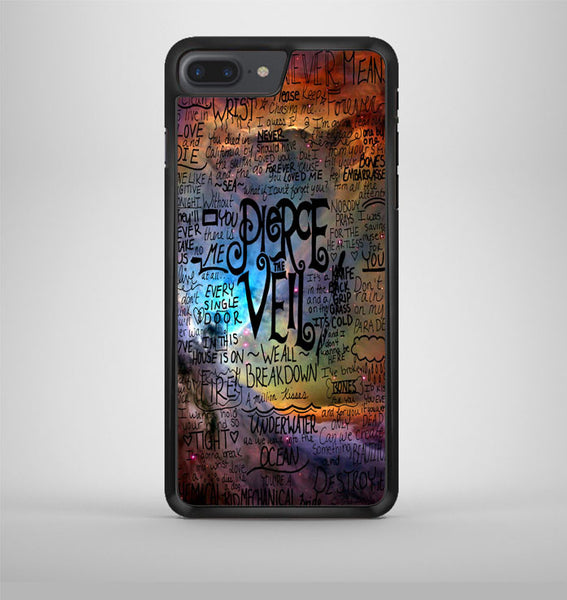 Pierce The Veil Lyric Logo Quote Galaxy iPhone 7 Plus Case Avallen