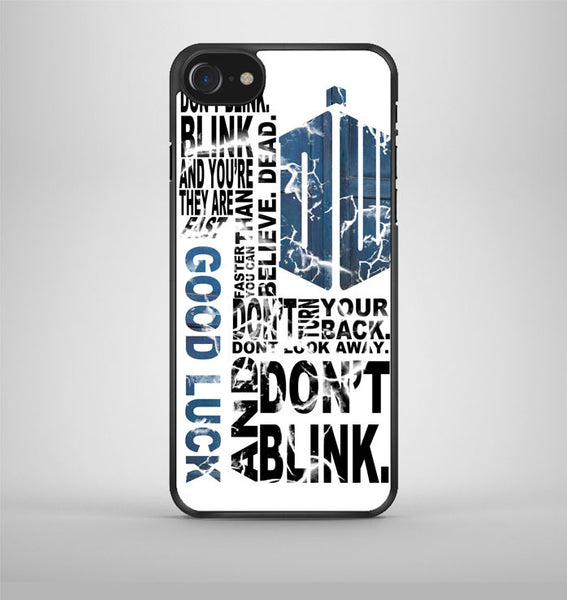 Police Box Tardis Doctor Who Dont Blink iPhone 7 Case Avallen