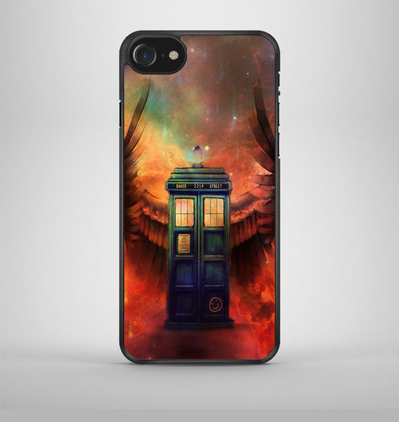 Police box Tardis angel iPhone 7 Case Avallen