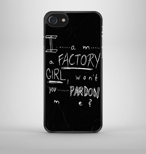 Pretty Reckless Factory Girl Lyric Cover iPhone 7 Case Avallen