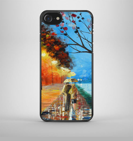 Rain Road Couple Love Oil Painting iPhone 7 Case Avallen