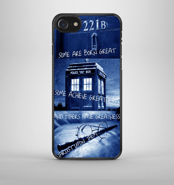 Sherlock Holmes Tardis Police Box Harry Potter iPhone 7 Case Avallen
