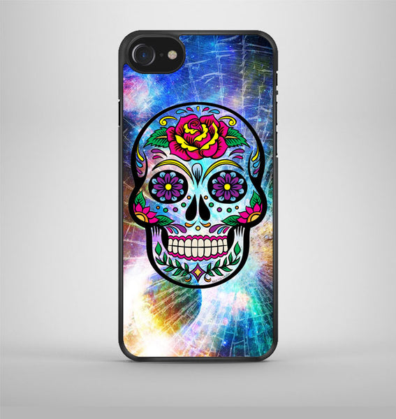 Sugar Skull Colorful Crack Out iPhone 7 Case Avallen