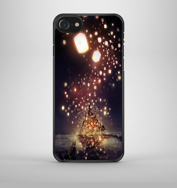 Tangled the lights Purple iPhone 7 Case Avallen