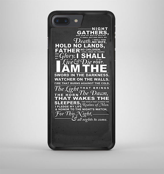 The Nights Watch Oath iPhone 7 Plus Case Avallen