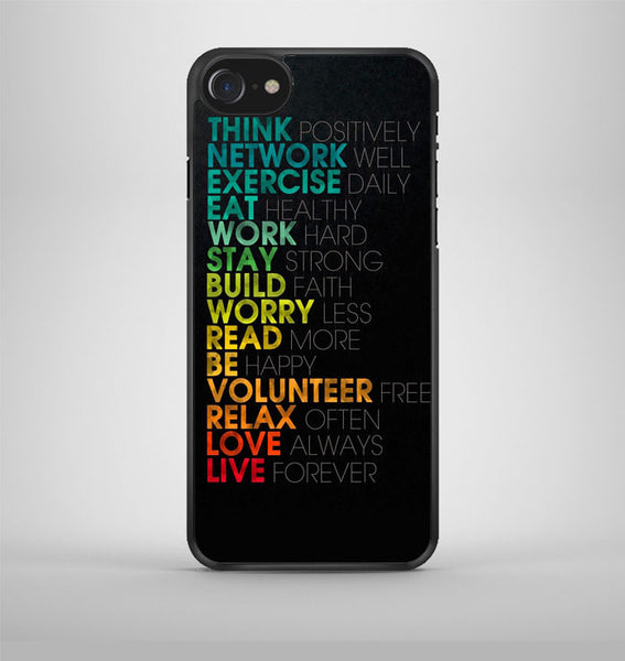 Think Positively iPhone 7 Case Avallen