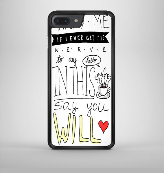 Train Marry Me Lyric Cover iPhone 7 Plus Case Avallen