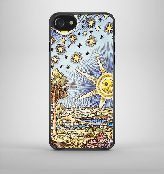 classic astrology sun and stars iPhone 7 Case Avallen